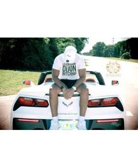T-shirt Blanc mixte - Lillemen King Dijon Bitchhh