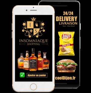Livraison d'alcool et de fast-food 24/24 tous les jours sur Dijon et ses alentours